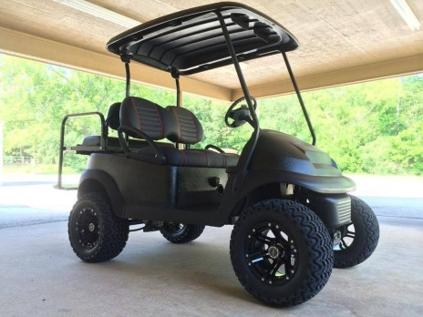 Black Golf Cart | Big Dog Custom Carts of East Texas on beach buggy cart, grey fifth wheel, car cart,